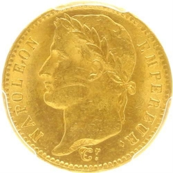 AA35 20 Francs Or Gold Napoléon I 1811 A Paris PCGS MS63 SPL