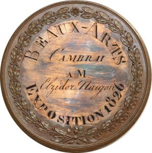 O6014 Médaille Charles X Exposition Beaux-Arts 1826 Cambrai Desnoyers SUP