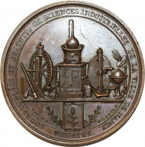 O5490 Médaille George Daurier Sciences industrielles 1830 Nancy Desnoyers SPL