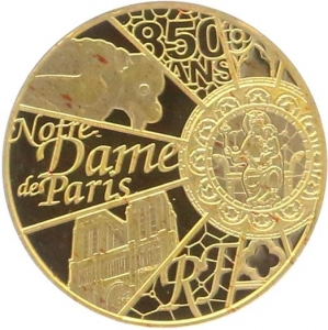 O4969 5 Euros Notre Dame Paris 850 Ans 2013 OR Gold BE PF PROOF