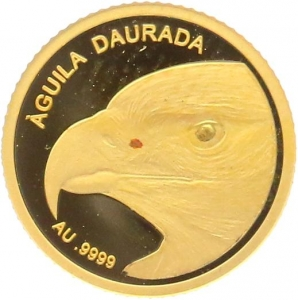 O4976 Andorra 1 Dinero Aguilla Daurada Eagle 2013 OR Gold BE PF PROOF